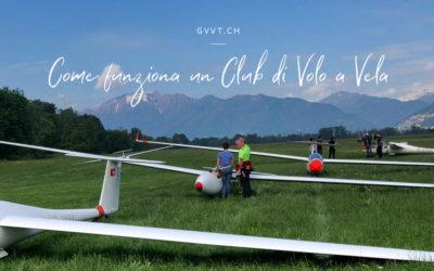 Come funziona un club di Volo a Vela?