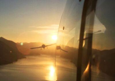 Traino al tramonto, foto di Rocco Pedrazzini